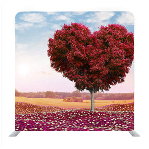 Heart shaped Tree red foliage valentines day Backdrop