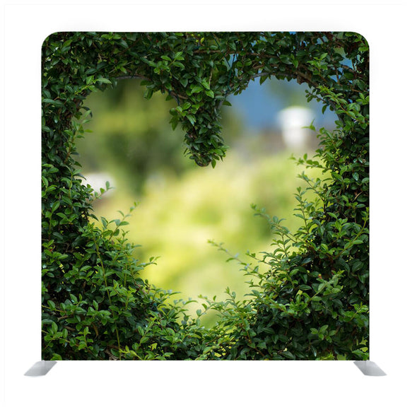Heart Shape In Green Plant Media Wall