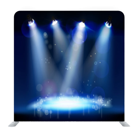 Illuminated White Spotlight Stage Media Wall