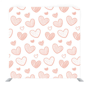Illustration with hearts in love concept for valentine's day Media wall