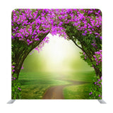 Lilac Trees In Blossom Beautiful Spring Landscape Background Media Wall