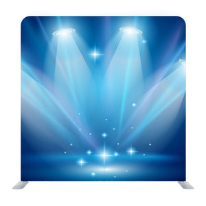 Magic Spotlights with Blue Rays and Glowing Effect  Background Media Wall