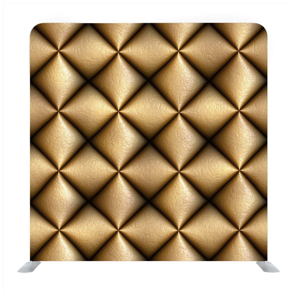 Metal Gold Texture. Golden Abstract Background With Square Details Backdrop