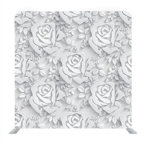 Monochrome Seamless Pattern With Rose Backdrop