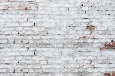 Old White Brick Wall Texture Print Photography Backdrop