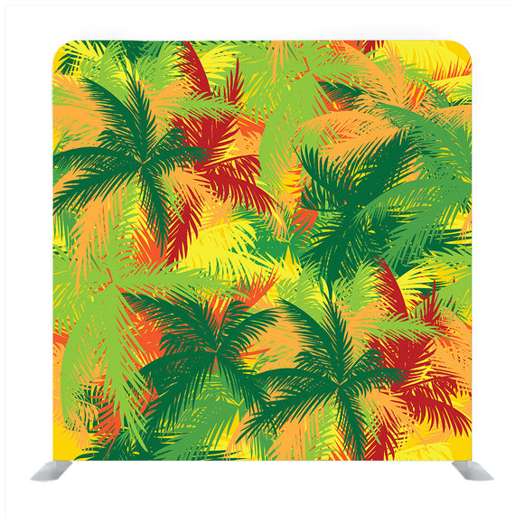 Pattern Of Tropical Palm Trees Backdrop