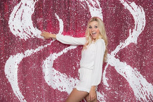 White/Pink Mermaid Sequin Backdrops