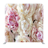Pink And White Peonies Pattern Background Media Wall