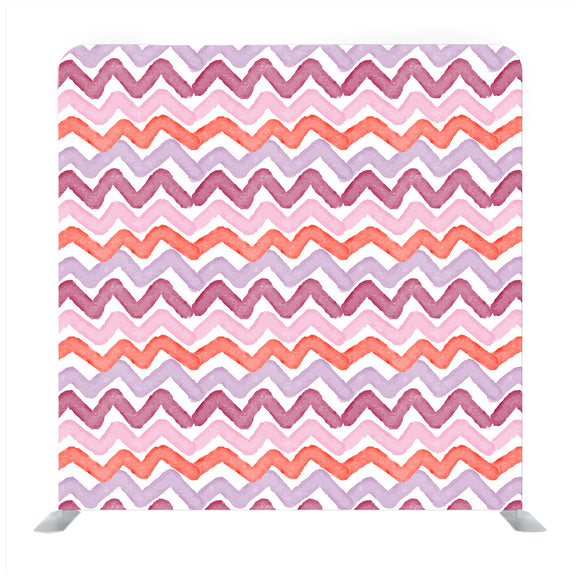 Pink and white watercolor background in chevron pattern Media wall