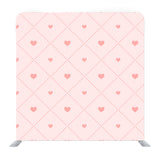 Pink  hearts on baby pink background Media wall