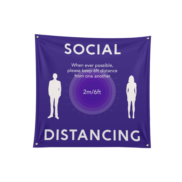 Social Distancing Fabric Banner - 04