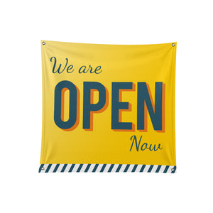 We are Open / Closed Fabric Banner - 01