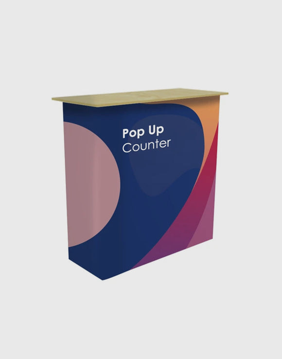 Table Pop Up Fabric Display Counter (For Podium & Booth Exhibitions)