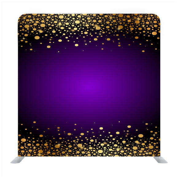 Purple and gold luxury Media wall