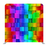 Rainbow of Colorful Blocks Abstract Media Wall