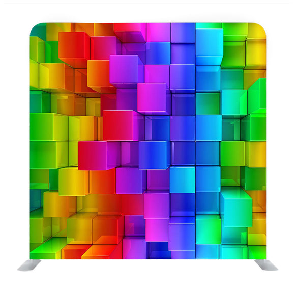 Rainbow of Colorful Boxes Media Wall