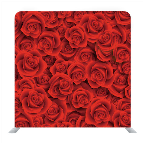 Red Roses in Red Textured Media Wall