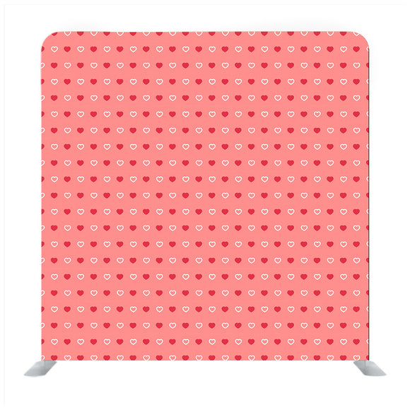 Red and White Tiny Heart Pattern with Pink Background Media wall