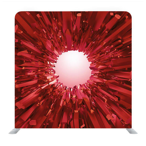 Red crystal Media Wall