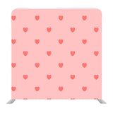 Red tiny heart pattern with pink background Media wall
