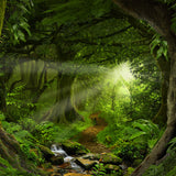 Deep Tropical Jungle Nature Backdrop
