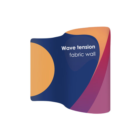 S Shape Wave Tension Fabric Media Wall