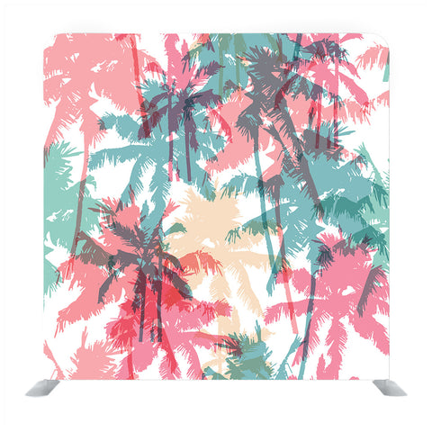 Seamless Pattern With Palm Trees Media Wall
