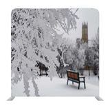 Snow Covered Benches And Trees Media Wall