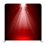 Spotlight Red On Stage Background Media Wall