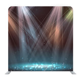 Spotlights On Stage With Smoke & Light Background Media Wall