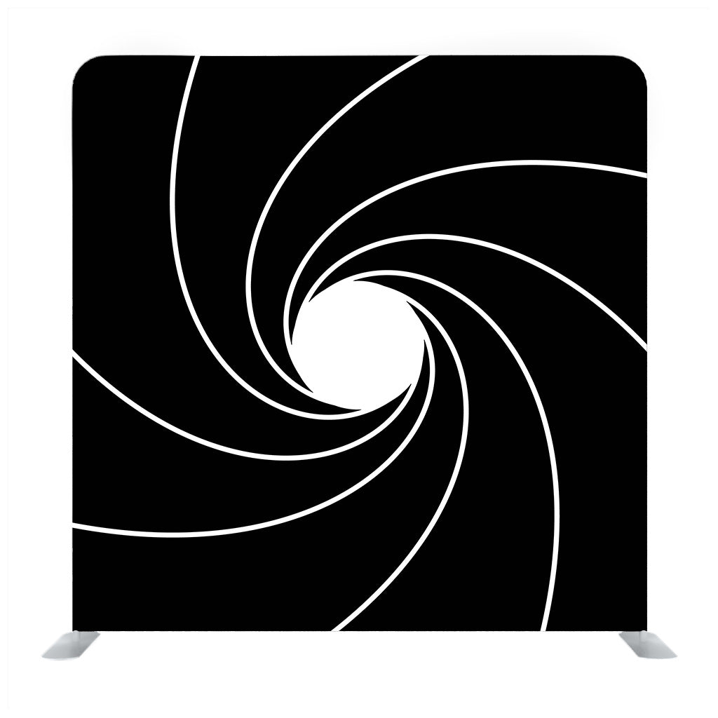 Sprial pattern with black backdrop Media wall