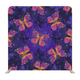 Spring dark violet pattern with colorful butterflies and flowers Media wall
