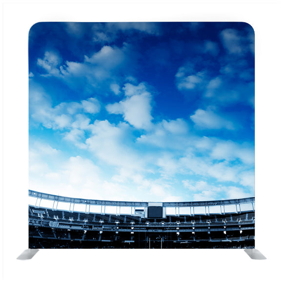 Stadium Building On The Blue Sky Background With Clouds Media Wall