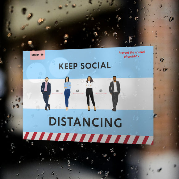 Social Distancing Window Decals / Sticker  - 03