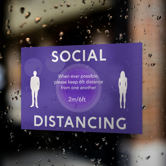 Social Distancing Window Decals / Sticker  - 04