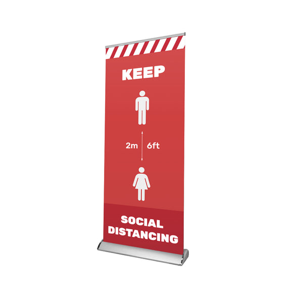 Social Distancing Retractable Banner - 01