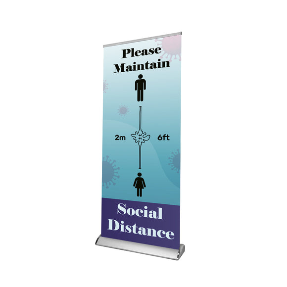 Social Distancing Retractable Banner - 02
