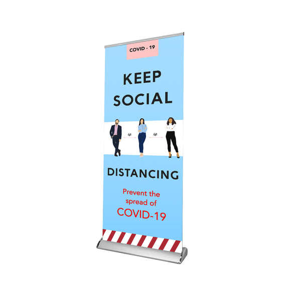 Social Distancing Retractable Banner - 03