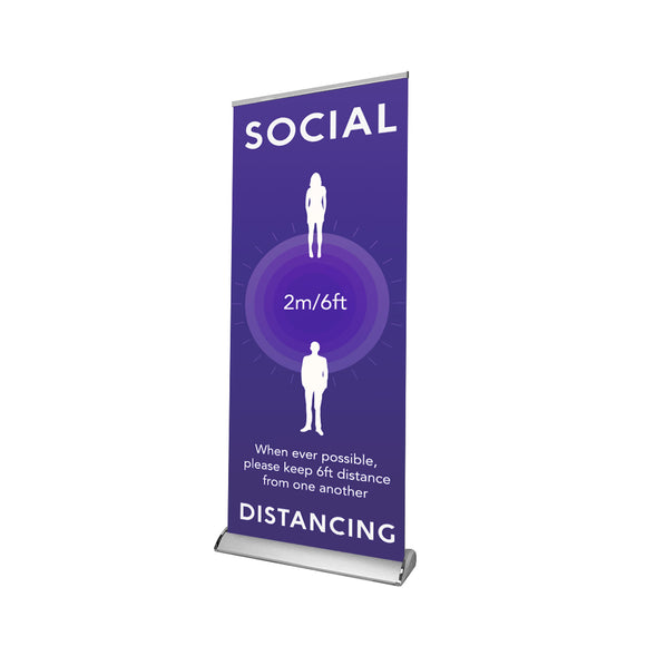 Social Distancing Retractable Banner - 04