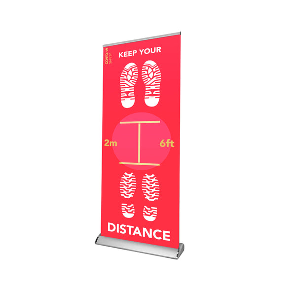 Social Distancing Retractable Banner - 05