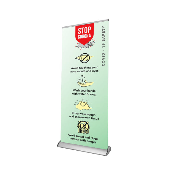 Safety & Advisory Retractable Banner - 01