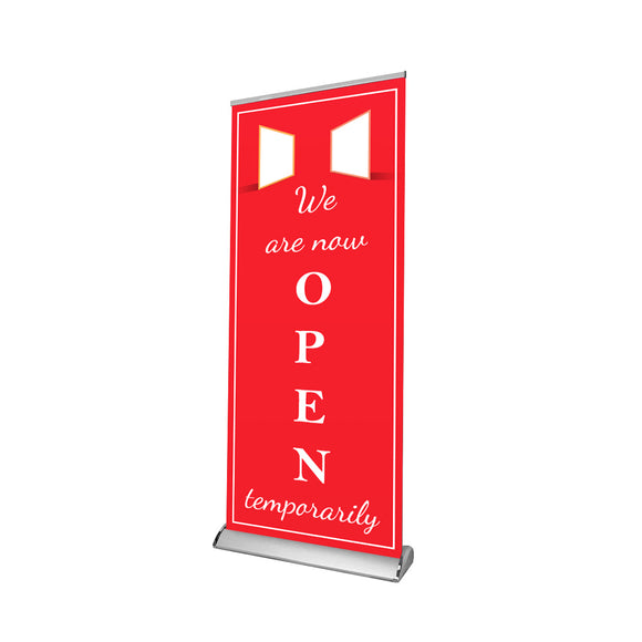 Temproary Hour Retractable Banner - 01