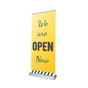 We are Open / Closed Retractable Banner - 01