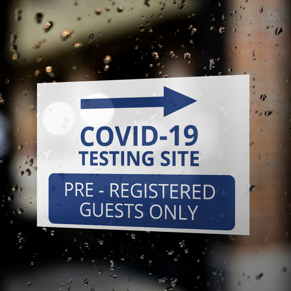 COVID -19 Testing Window Decals / Sticker  - 02