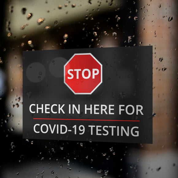 COVID -19 Testing Window Decals / Sticker  - 03
