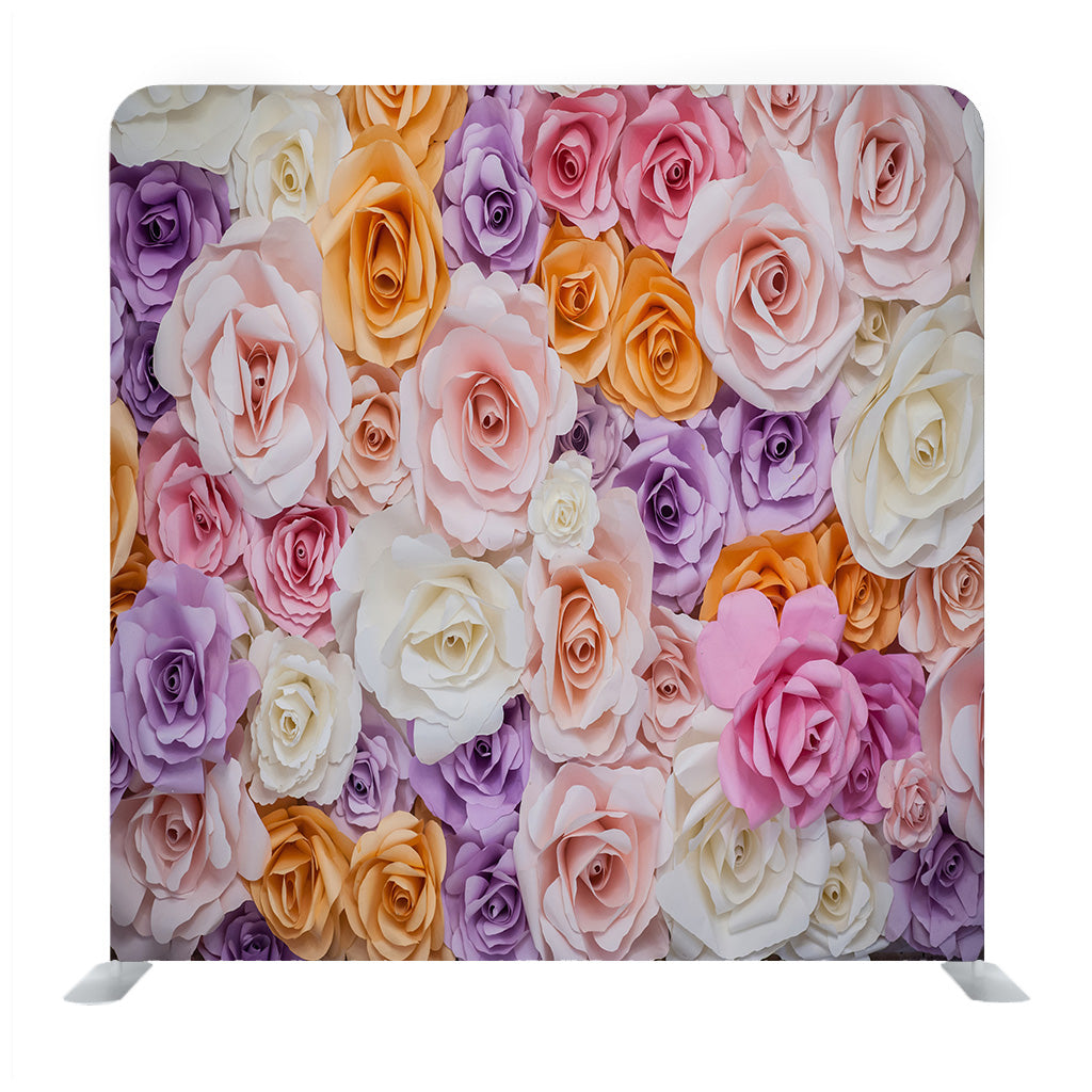 The Background Image Of The Colorful Flowers Media Wall
