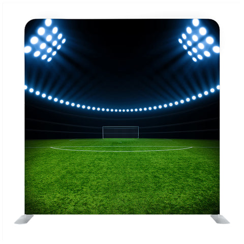 The Soccer Sport Stadium With The Bright Lights Background Media Wall