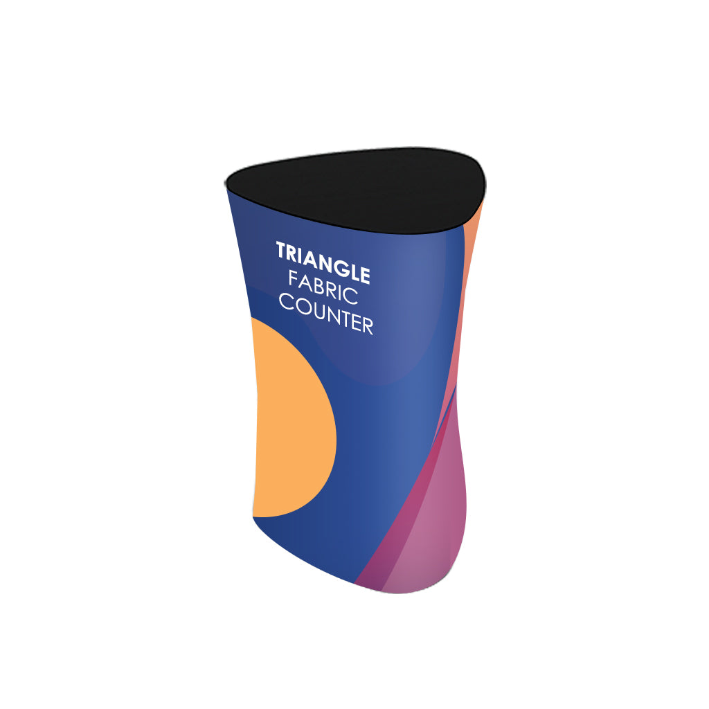 Triangle Fabric Display Counter (For Podium & Booth Exhibitions)