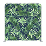 Tropical Leaves On White Background Media Wall