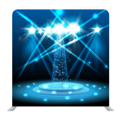 Vector Blue Light Stage Media Wall